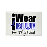 I Wear Blue (Dad) Rectangle Magnet (10 pack)
