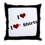 i heart i heart shirts Throw Pillow
