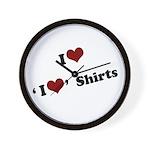 i heart i heart shirts Wall Clock