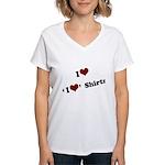 i heart i heart shirts Women's V-Neck T-Shirt