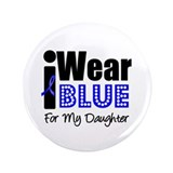 "I Wear Blue (Daughter) 3.5"" Button"