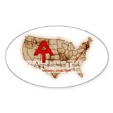 Antique Appalachian Trail Oval Decal