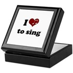 i heart to sing Keepsake Box