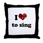 i heart to sing Throw Pillow