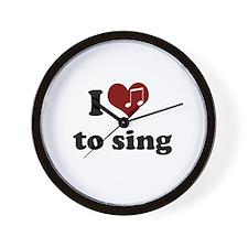 i heart to sing Wall Clock