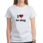 i heart to sing Women's T-Shirt