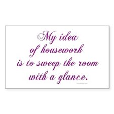 Housework... Rectangle Decal