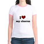 i heart my chorus Jr. Ringer T-Shirt