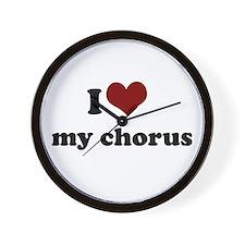 i heart my chorus Wall Clock
