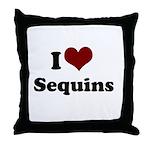i heart sequins Throw Pillow