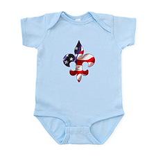 Fleur de lis Stars & Stripes Infant Bodysuit