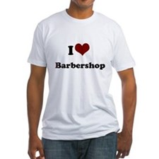 i heart barbershop Fitted T-Shirt