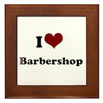 i heart barbershop Framed Tile