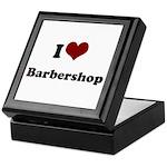 i heart barbershop Keepsake Box