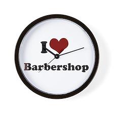 i heart barbershop Wall Clock