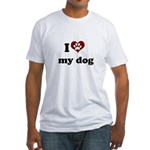 i heart my dog Fitted T-Shirt