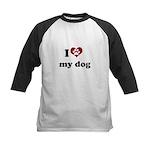 i heart my dog Kids Baseball Jersey