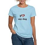 i heart my dog Women's Light T-Shirt