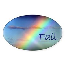 Rainbow Fail Hope Oval Decal