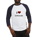 i heart liberals Baseball Jersey