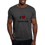 i heart liberals Dark T-Shirt