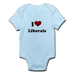 i heart liberals Infant Bodysuit