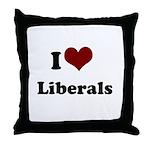 i heart liberals Throw Pillow
