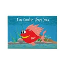 Red I'm Cooler Than You Rectangle Magnet
