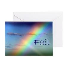 Rainbow Fail Hope Greeting Card
