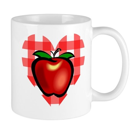 Checkered Tablecloth Apple He Mug