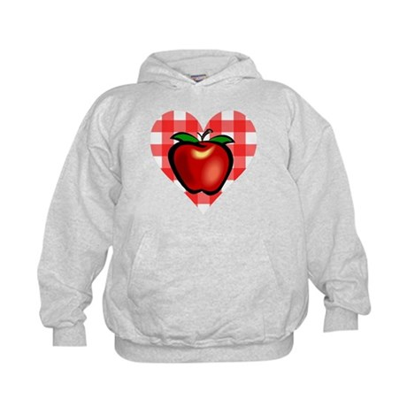 Checkered Tablecloth Apple He Kids Hoodie