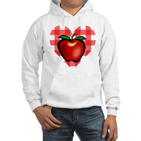 Checkered Tablecloth Apple He Hooded Sweatshirt