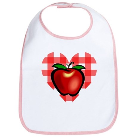 Checkered Tablecloth Apple He Bib