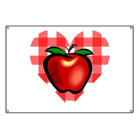 Checkered Tablecloth Apple He Banner