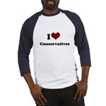 i heart conservatives Baseball Jersey