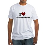 i heart conservatives Fitted T-Shirt