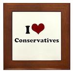 i heart conservatives Framed Tile