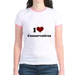 i heart conservatives Jr. Ringer T-Shirt