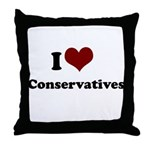 i heart conservatives Throw Pillow