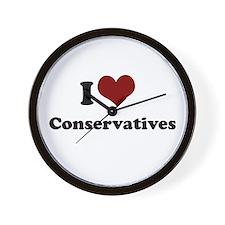 i heart conservatives Wall Clock