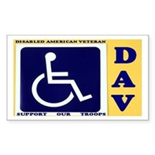 Disabled Vets Rectangle Decal