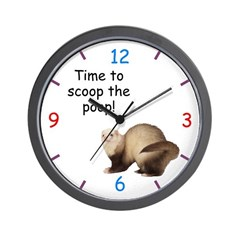 Time To Scoop The Poop Wall Clock