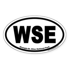 Wrangle St. Elias National Park Euro Oval Decal