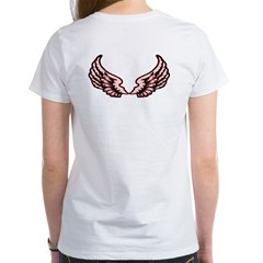 Pink Angel wings on back Women's T-Shirt