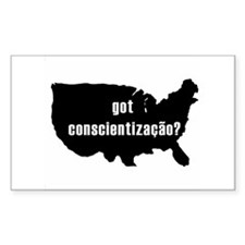 Conscientizacao Rectangle Decal