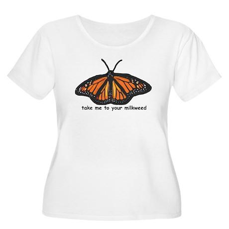 Monarch Butterfly Women's Plus Size Scoop Neck T-S