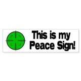My Peace Sign Bumper Bumper Sticker