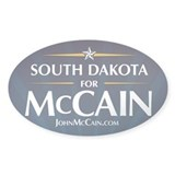 South Dakota for McCain Oval Decal