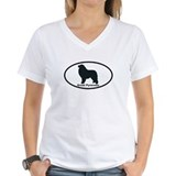 GREAT PYRENEES Womens V-Neck T-Shirt