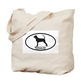 BLACK TAN COONHOUND Tote Bag